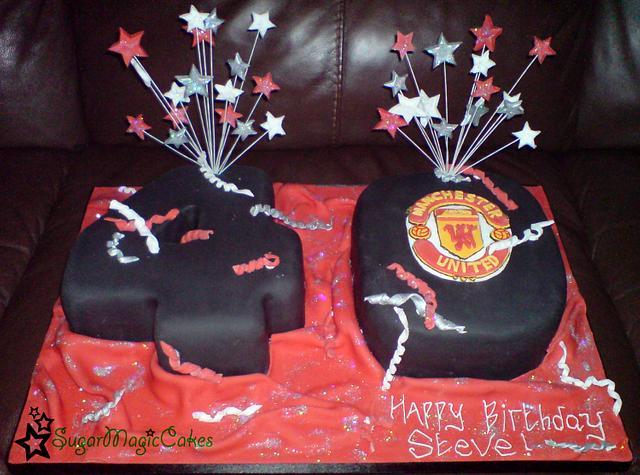 Man Utd 40th Cake By Sugarmagiccakes Christine Cakesdecor