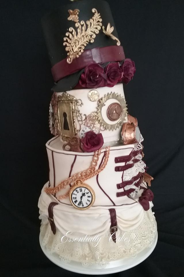 Burgundy & Ivory steam punk wedding