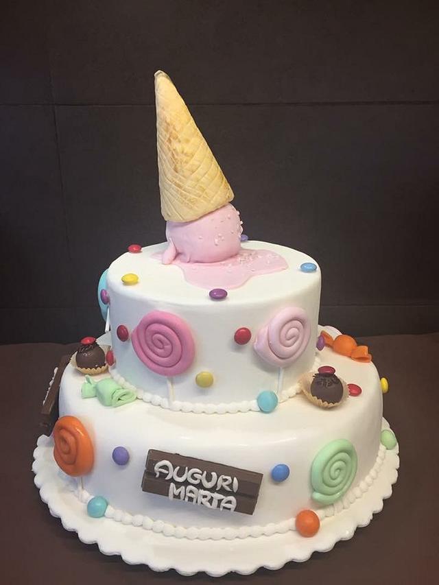 Sugar candy cake