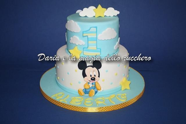 Groovy Baby Mickeymouse Cake Cake By Daria Albanese Cakesdecor Personalised Birthday Cards Sponlily Jamesorg