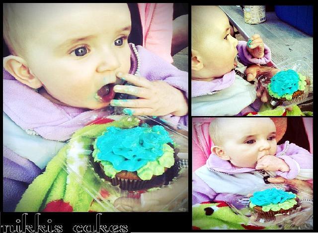Sugar free flower cupcake