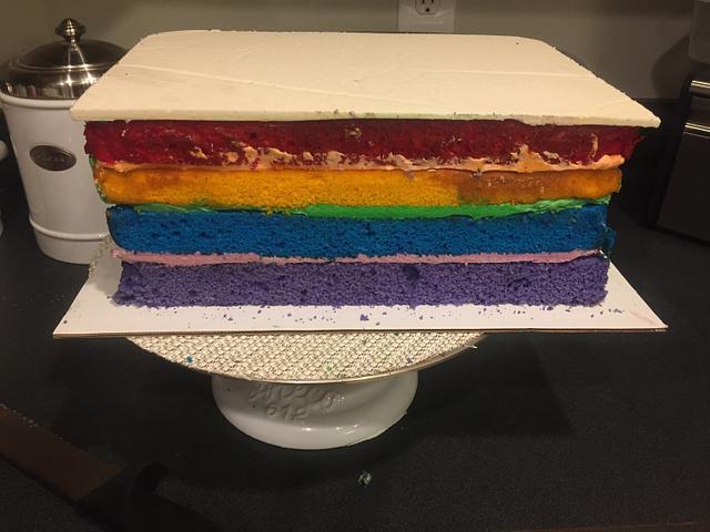 Nursery wall cake