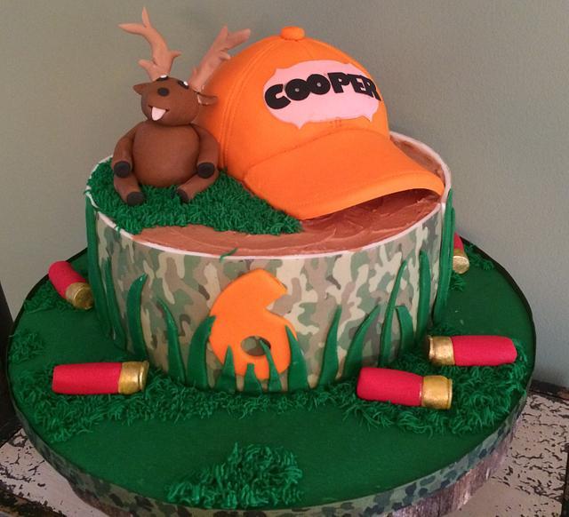 Amazing Camo Birthday Cake By John Flannery Cakesdecor Funny Birthday Cards Online Alyptdamsfinfo