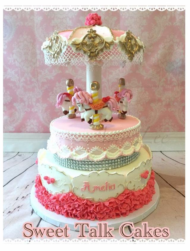 Carrousel cake!