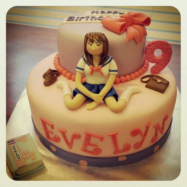 Cool Anime Cake Cake By The Pinkery Cake Cakesdecor Funny Birthday Cards Online Unhofree Goldxyz
