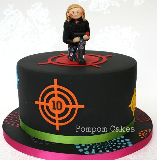 Prime Laser Tag Cake By Pompomcakes Cakesdecor Birthday Cards Printable Riciscafe Filternl