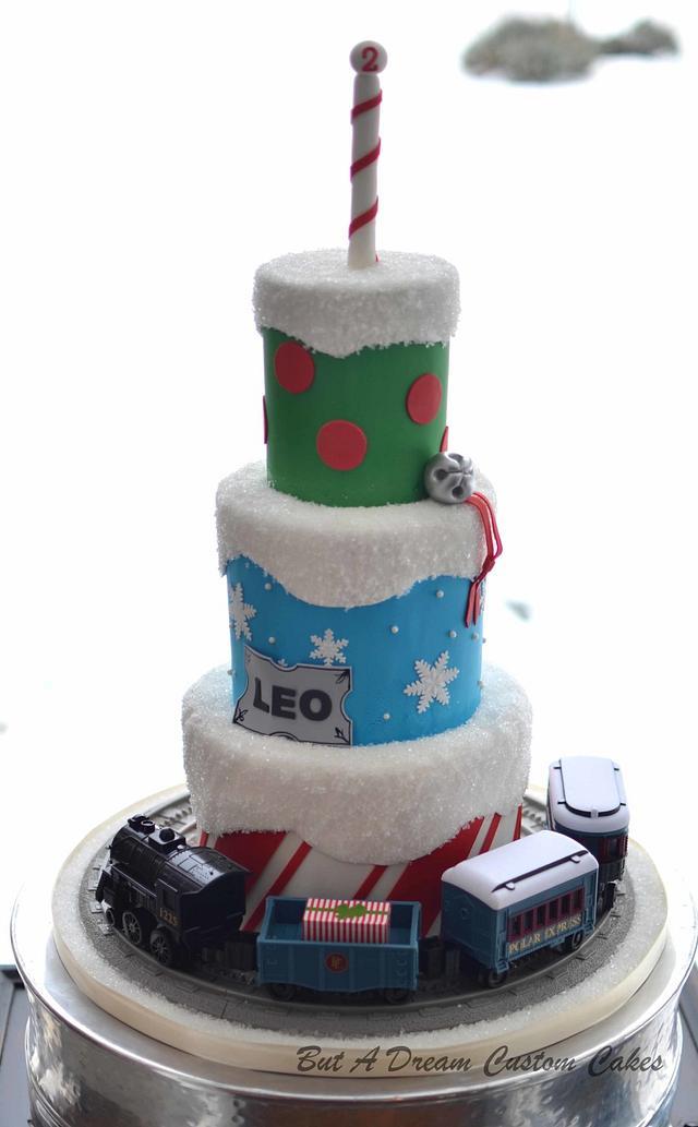 Pleasing Polar Express Cake Cake By Elisabeth Palatiello Cakesdecor Funny Birthday Cards Online Fluifree Goldxyz