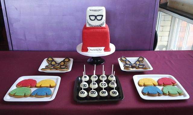 Beard & jumper dessert table