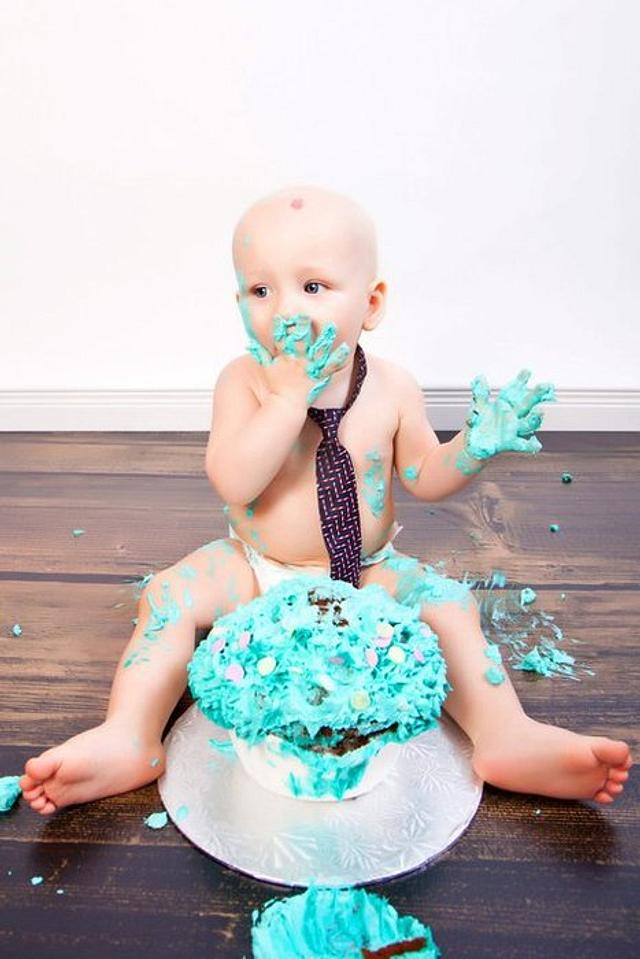 Wondrous 1St Birthday Smash Cake Cake By Boutiquebaker Cakesdecor Funny Birthday Cards Online Elaedamsfinfo