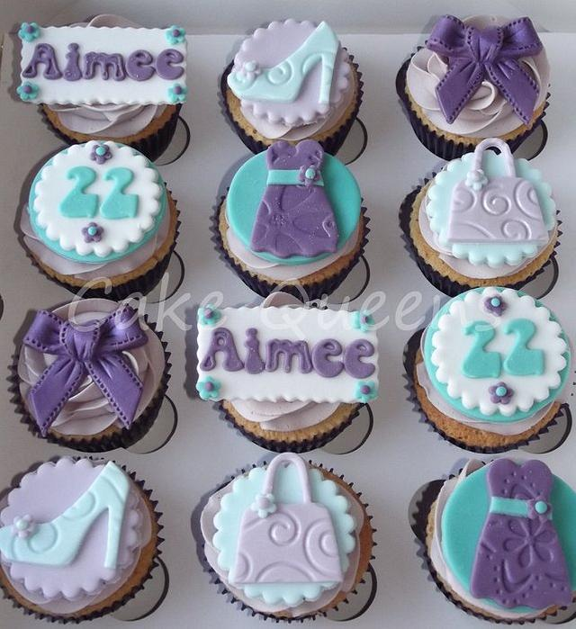 Fashion themed Birthday cupcakes