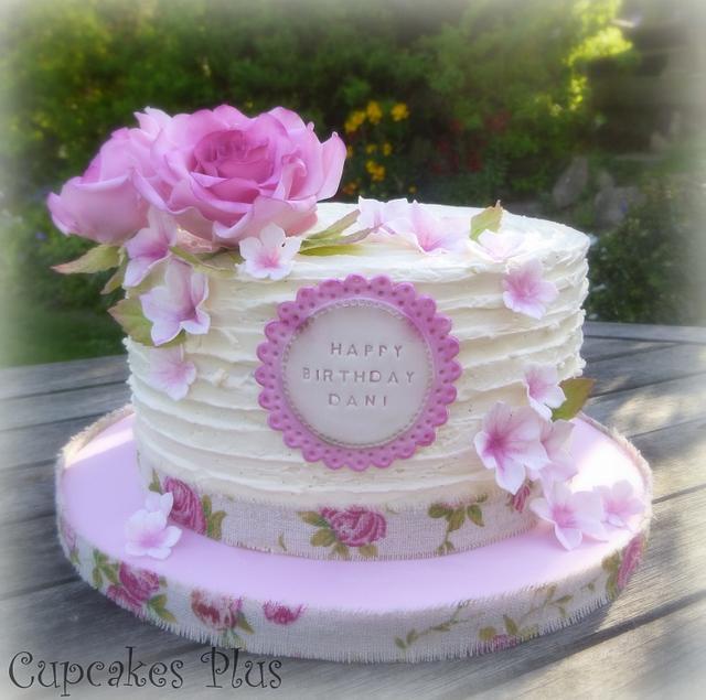 Rustic Buttercream birthday cake