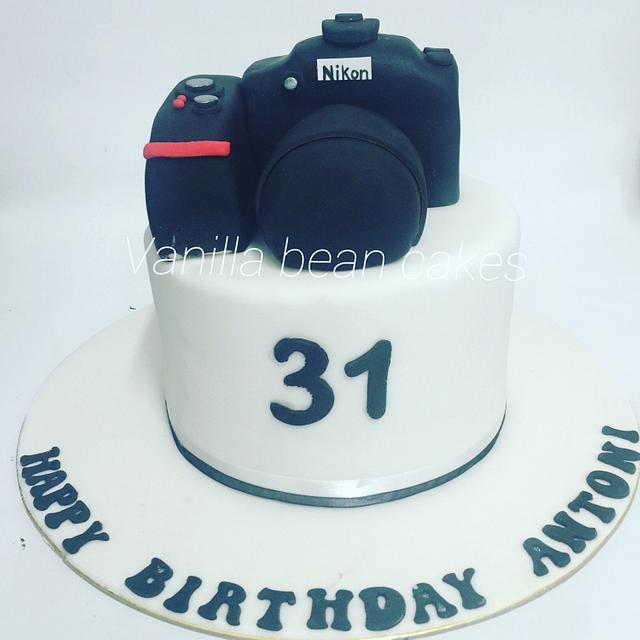 Remarkable Nikon Camera Cake Cake By Vanilla Bean Cakes Cakesdecor Personalised Birthday Cards Sponlily Jamesorg
