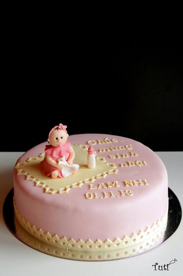 Cool Baby Girl Birthday Cake Cake By Tuti Cakesdecor Birthday Cards Printable Opercafe Filternl
