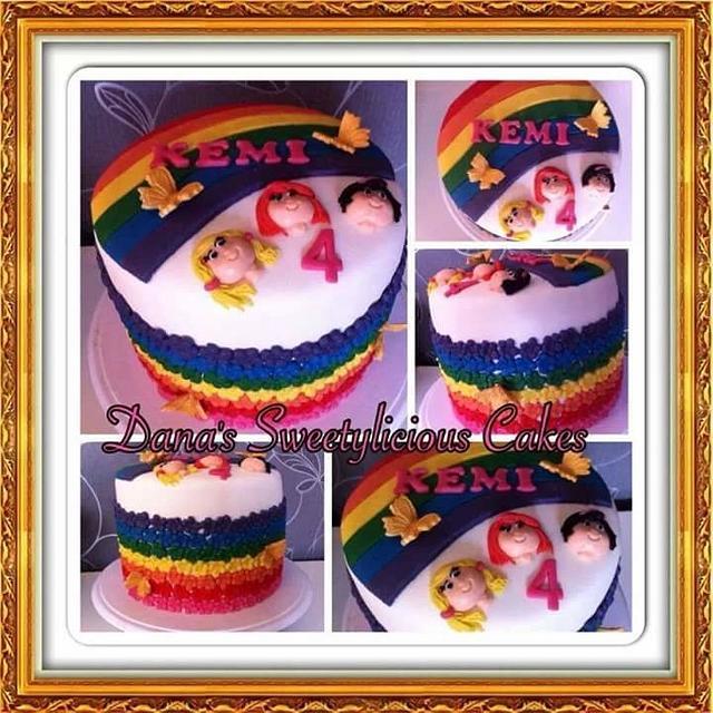 Rainbow k3 cake