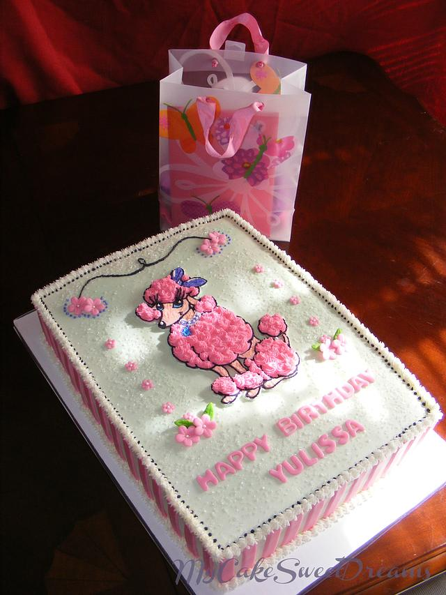 Admirable Pink Poodle Birthday Cake Cake By My Cake Sweet Cakesdecor Funny Birthday Cards Online Aeocydamsfinfo