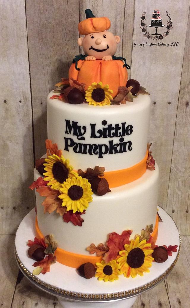 My Little Pumpkin Baby Shower Cake