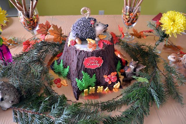 Hedgehog Birthday Cake