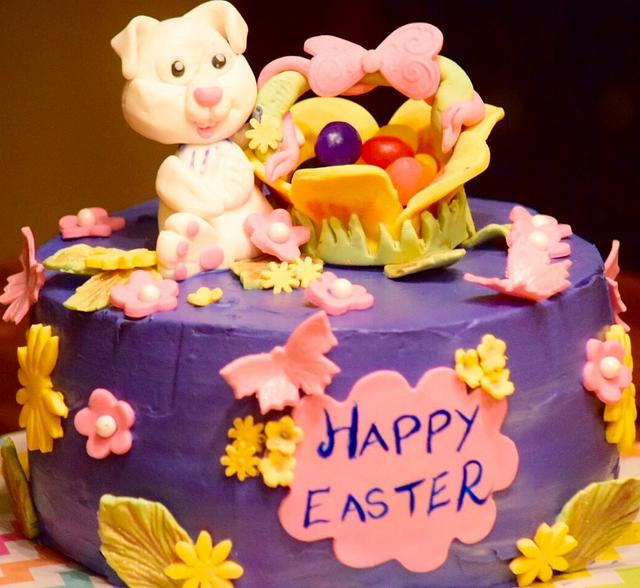 Easter bunny cake!