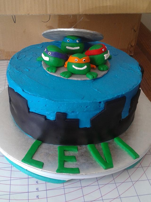 Fine Teenage Mutant Ninja Turtle Birthday Cake Cake By Cakesdecor Funny Birthday Cards Online Elaedamsfinfo