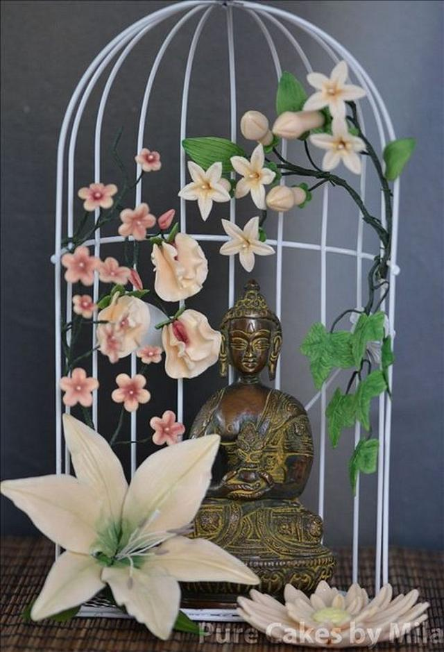 Sugar Flowers Mindfull Buddha