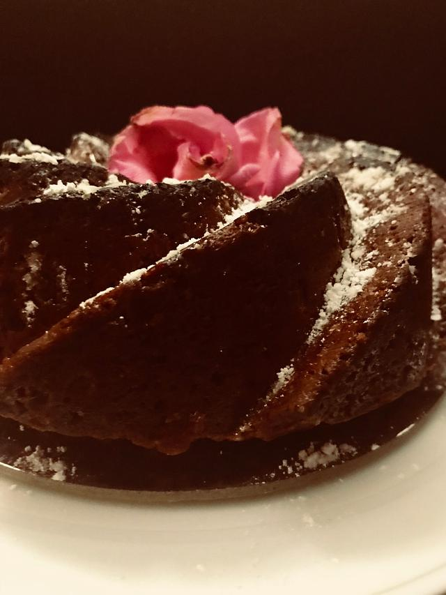A red velvet bundt cake