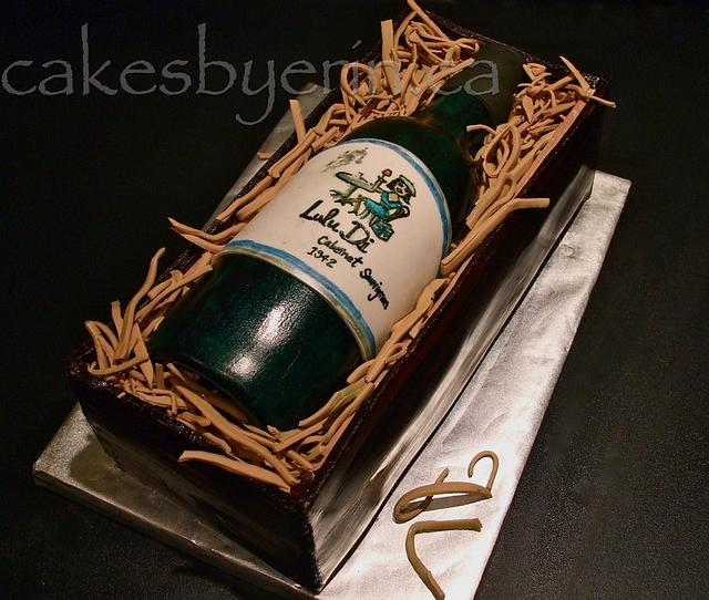 Lulu Di Wine Bottle Cake