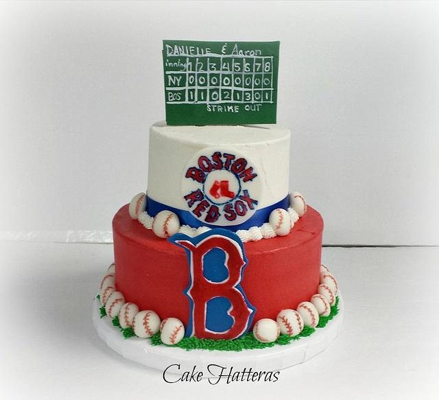 Remarkable Boston Red Sox Grooms Cake Cake By Donna Tokazowski Cakesdecor Birthday Cards Printable Nowaargucafe Filternl