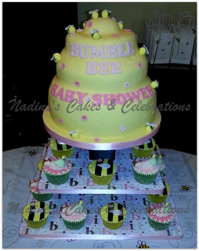 Beehive Baby Shower Cake