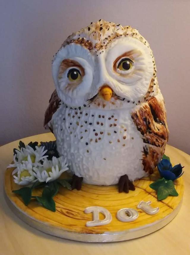 Sensational Ollie The Owl Birthday Cake Cake By Redhatcakes Cakesdecor Funny Birthday Cards Online Elaedamsfinfo