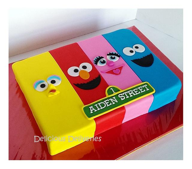 Sesame Street Sheet Themed Cake