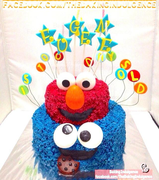 Cookies Monster And Elmo Cake Cake By Jac Cakesdecor