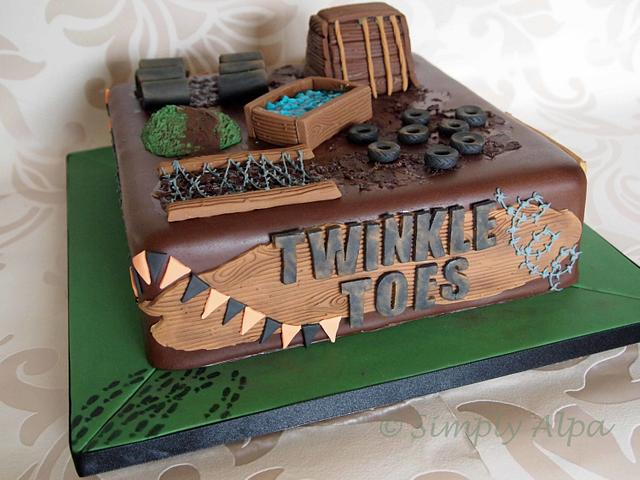 Pleasing Tough Mudders Cake Cake By Alpa Boll Simply Alpa Cakesdecor Funny Birthday Cards Online Aboleapandamsfinfo