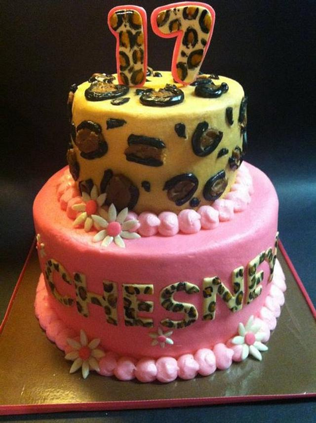 Excellent Cheetah Birthday Cake Cake By Heather Britton Collins Cakesdecor Personalised Birthday Cards Petedlily Jamesorg