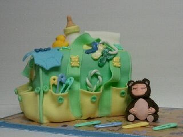Buttons & Bears Diaper Bag Cake