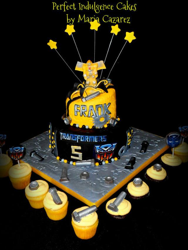 Magnificent Frankies Transformers Birthday Cake Cake By Maria Cakesdecor Funny Birthday Cards Online Elaedamsfinfo