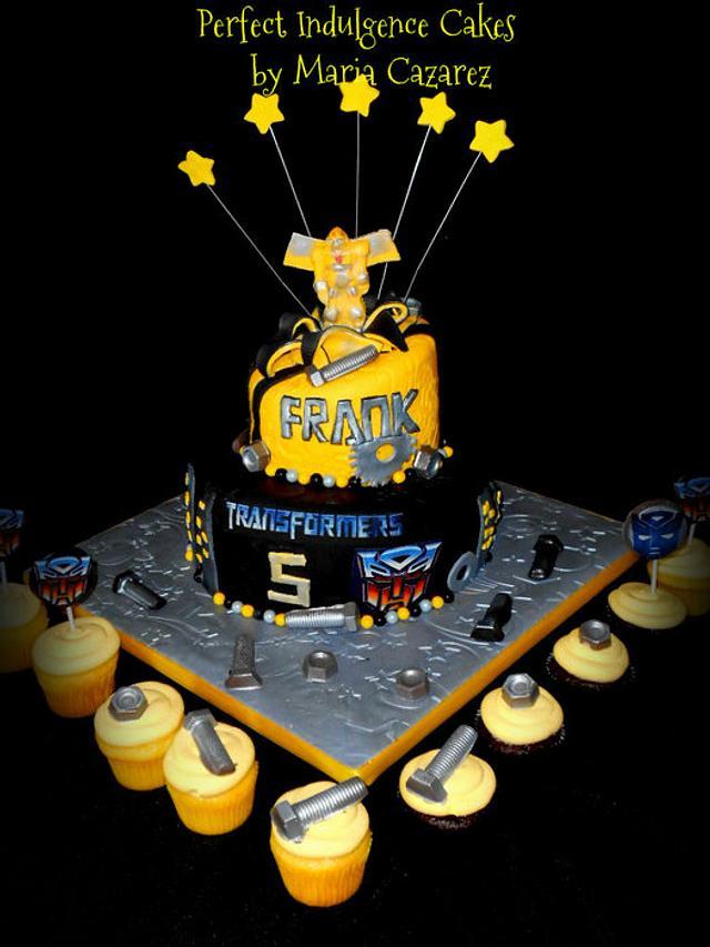 Stupendous Frankies Transformers Birthday Cake Cake By Maria Cakesdecor Funny Birthday Cards Online Inifofree Goldxyz