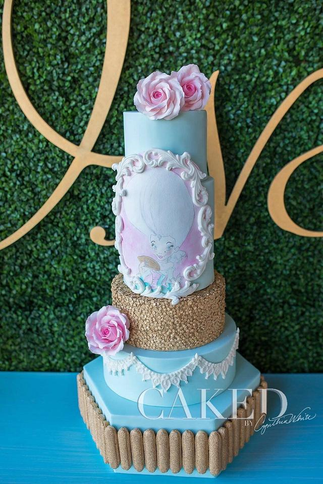 """Marie Ant""""ONE""""nette Cake for a First Birthday!"""
