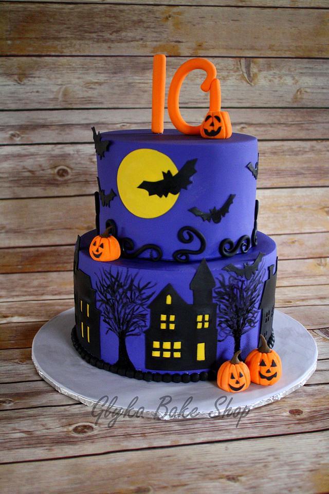Awesome Halloween Birthday Cake Cake By Glykabakeshop Cakesdecor Personalised Birthday Cards Veneteletsinfo