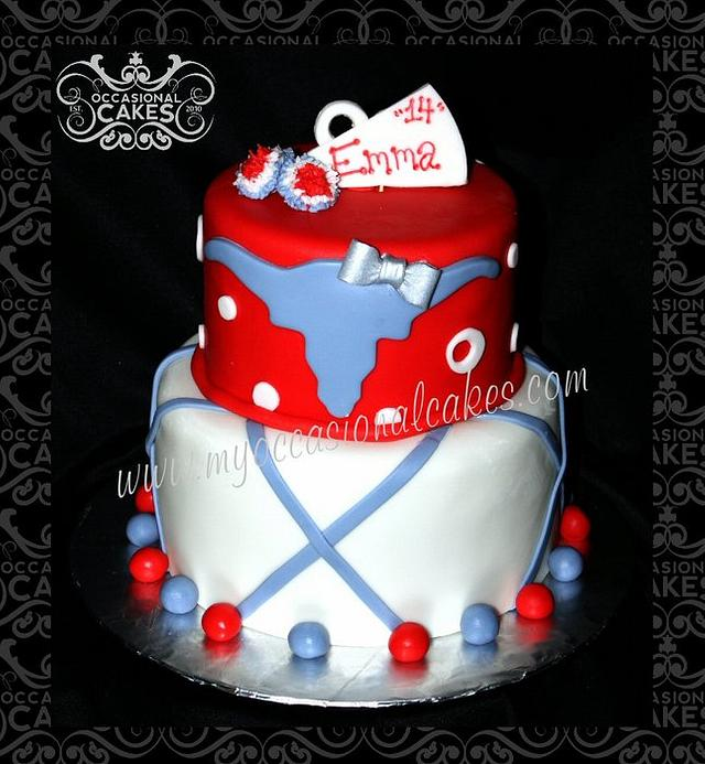 Astonishing Cheerleader Themed Birthday Cake Cake By Occasional Cakesdecor Funny Birthday Cards Online Fluifree Goldxyz