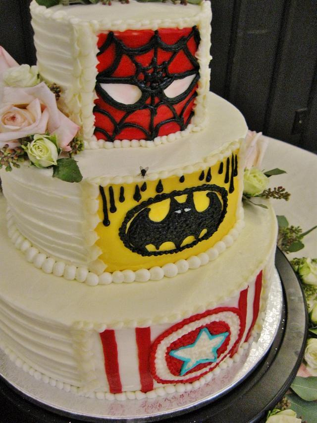 Reveal Wedding/Grooms cake in buttercream