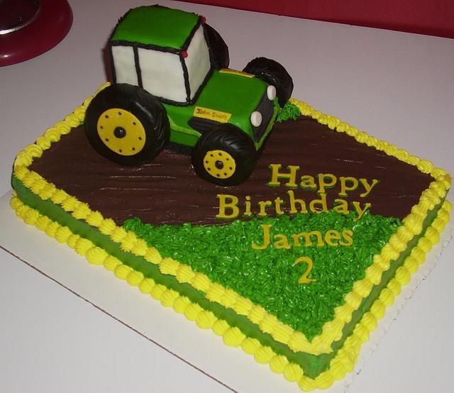 Fabulous John Deere Tractor Cake Cake By Angie Mellen Cakesdecor Funny Birthday Cards Online Amentibdeldamsfinfo