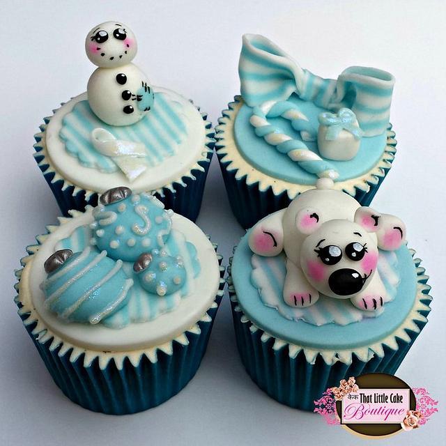 Polar Blue Cupcake Collection