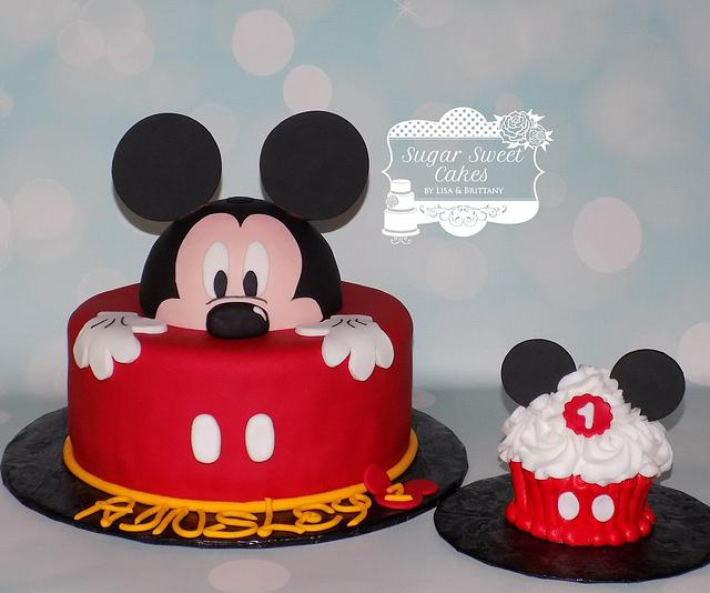 Phenomenal Mickey Mouse 1St Bday Cake By Sugar Sweet Cakes Cakesdecor Personalised Birthday Cards Bromeletsinfo
