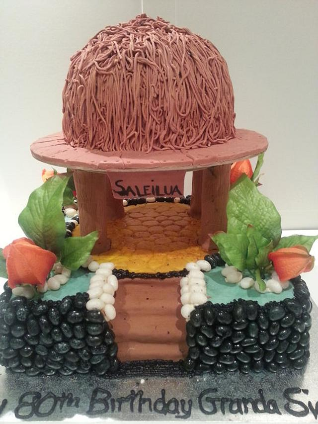 tropical Hut Cake