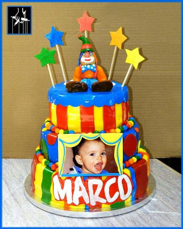 Astonishing The Marco Carnival Birthday Cake Cake By Thecakedon Cakesdecor Personalised Birthday Cards Bromeletsinfo