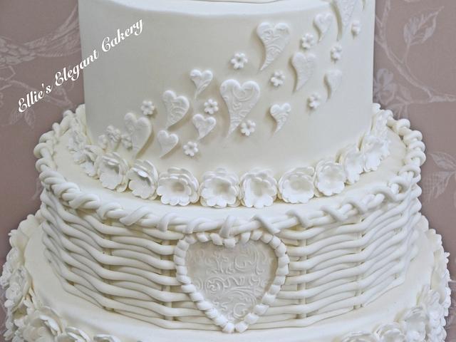 Traditional White Wedding Cake