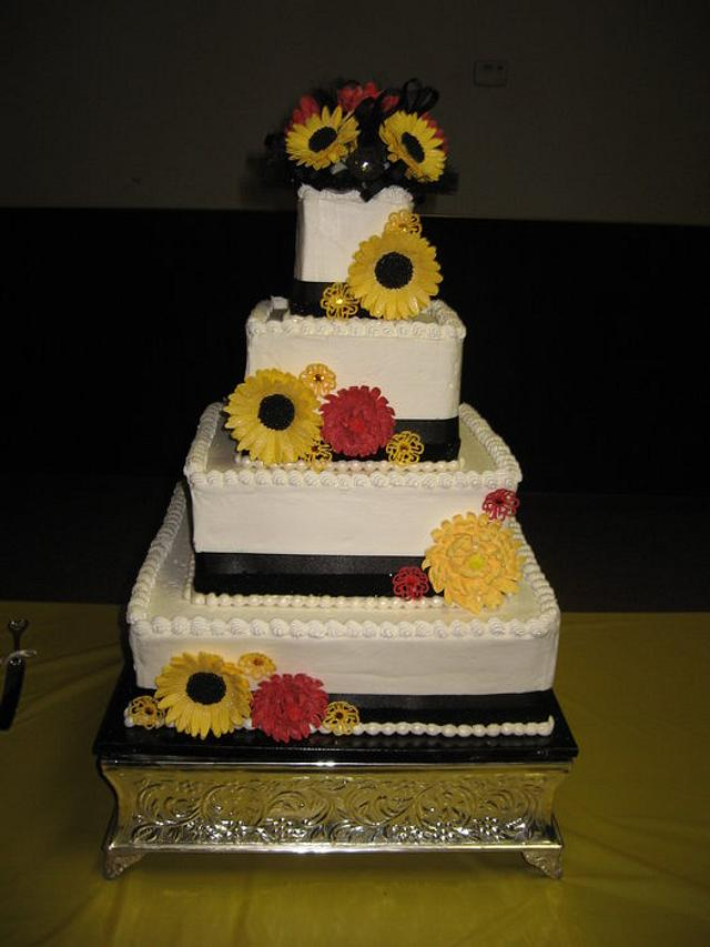 Sunflowers and Chrysanthemums