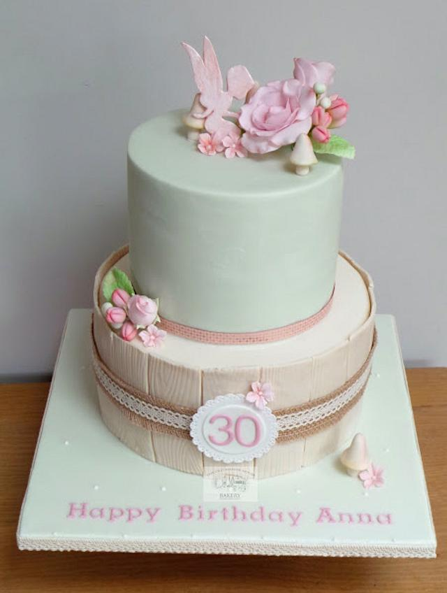Brilliant Fairy And Flowers 30Th Birthday Cake Cake By The Old Cakesdecor Birthday Cards Printable Riciscafe Filternl