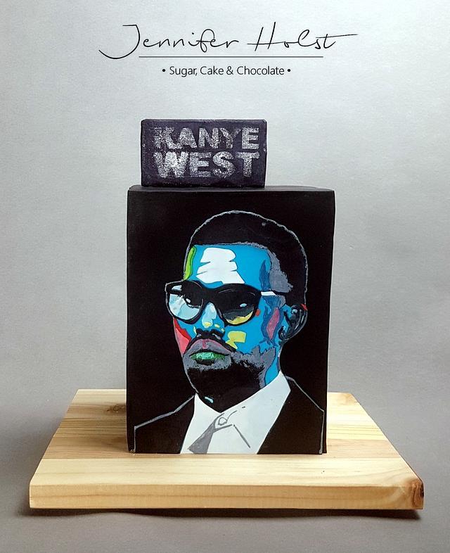 Kayne West birthday cake