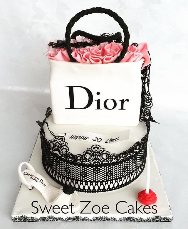 Shopping Bag Dior Cake